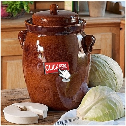 Click here for our ceramic fermentation pots sauerkraut pots