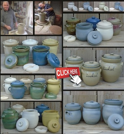 Our handwork stoneware fermentation pots click here
