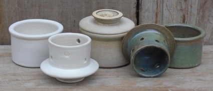 French butter pots